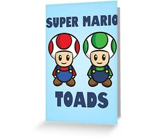Super Mario Toads (with writing) Greeting Card
