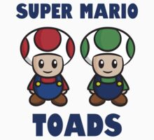 Super Mario Toads (with writing) One Piece - Long Sleeve