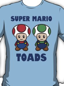 Super Mario Toads (with writing) T-Shirt