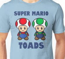 Super Mario Toads (with writing) Unisex T-Shirt