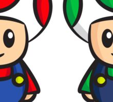 Super Mario Toads (with writing) Sticker