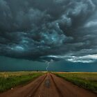 End of the road. Tornado alley. by John Finney