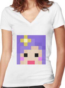 iHasCupquake Minecraft Cloud 9 Season 3 Skin Women's Fitted V-Neck T-Shirt