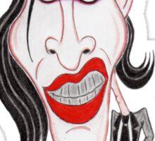 Dark Rock Metal 90's Funny Caricature Sticker