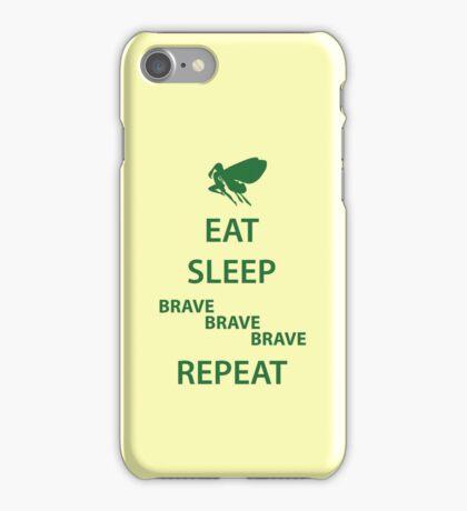 Eat Sleep Brave Brave Brave Repeat (green) iPhone Case/Skin