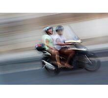 Italian Moped Photographic Print