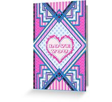 Love you patchwork gifts Greeting Card