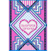Love you patchwork gifts Photographic Print