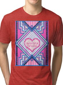 Love you patchwork gifts Tri-blend T-Shirt