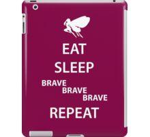 Eat Sleep Brave Brave Brave Repeat (white) iPad Case/Skin