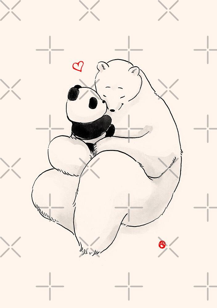 Kissy Baby by Panda And Polar Bear