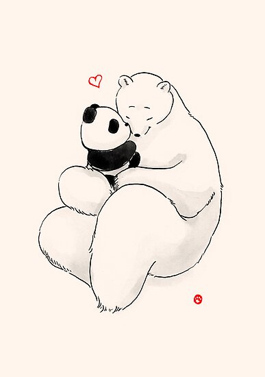 Kissy Baby by Panda And Polar Bear