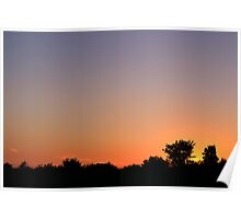 Smooth Sunset  Silhouette Sky Poster