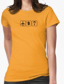 D B Cooper (Black) Womens Fitted T-Shirt