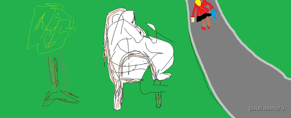 Social Commentary: Down and out -(150214)- Digital artwork/MS Paint by paulramnora