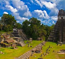 Guatemala. Tikal. The Main Plaza. by vadim19