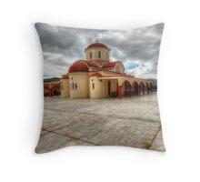 Lassithi Monastery Throw Pillow