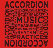 Accordion Typography One Piece - Short Sleeve
