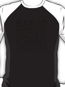 Banjo Typography T-Shirt