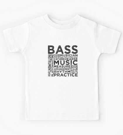 Bass Typography Kids Tee