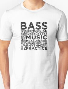 Bass Typography T-Shirt