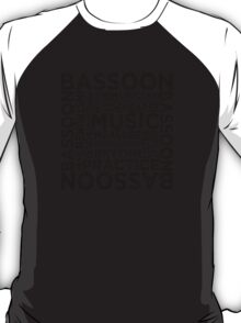 Bassoon Typography T-Shirt