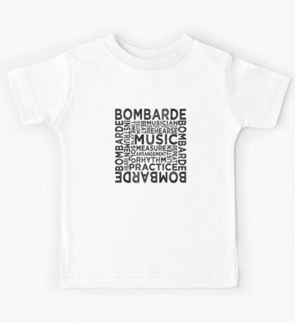 Bombarde Typography Kids Tee