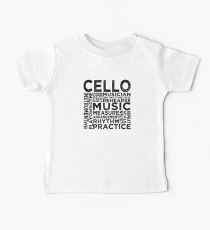 Cello Typography Baby Tee