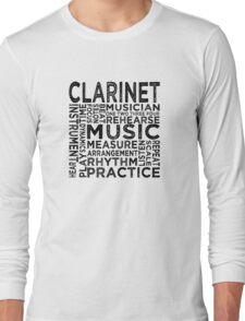 Clarinet Typography Long Sleeve T-Shirt