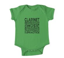 Clarinet Typography One Piece - Short Sleeve