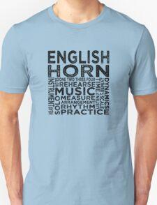 English Horn Typography T-Shirt