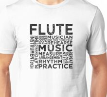 Flute Typography Unisex T-Shirt