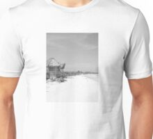 black and white beachscape Unisex T-Shirt
