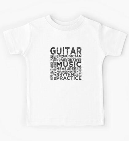 Guitar Typography Kids Tee