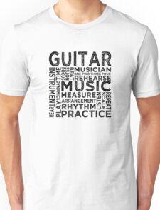 Guitar Typography Unisex T-Shirt
