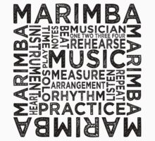 Marimba Typography Kids Clothes