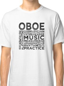 Oboe Typography Classic T-Shirt