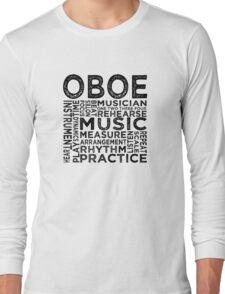 Oboe Typography Long Sleeve T-Shirt