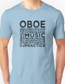 Oboe Typography T-Shirt