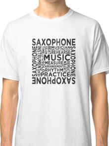 Saxophone Typography Classic T-Shirt