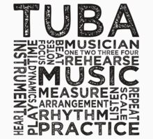 Tuba Typography Kids Clothes