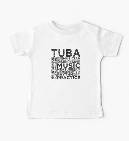 Tuba Typography Baby Tee