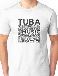 Tuba Typography Unisex T-Shirt