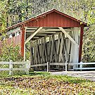 Everett Road Covered Bridge by Monnie Ryan