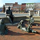 Kunta Kinte/Alex Haley Foundation - Sculpture Group - Annapolis, MD by Bine