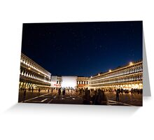 St. Marks Square At Night Greeting Card