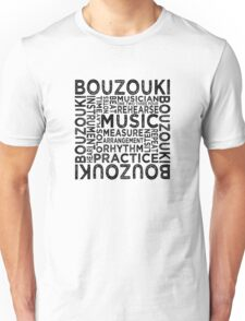 Bouzouki Typography Unisex T-Shirt