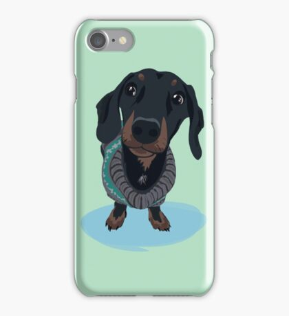 Cool Guy - Dachshund Sausage Dog iPhone Case/Skin