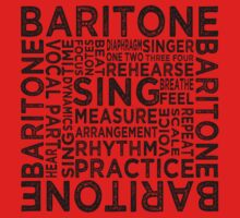 Baritone Typography One Piece - Short Sleeve