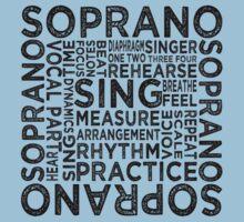 Soprano Typography One Piece - Short Sleeve